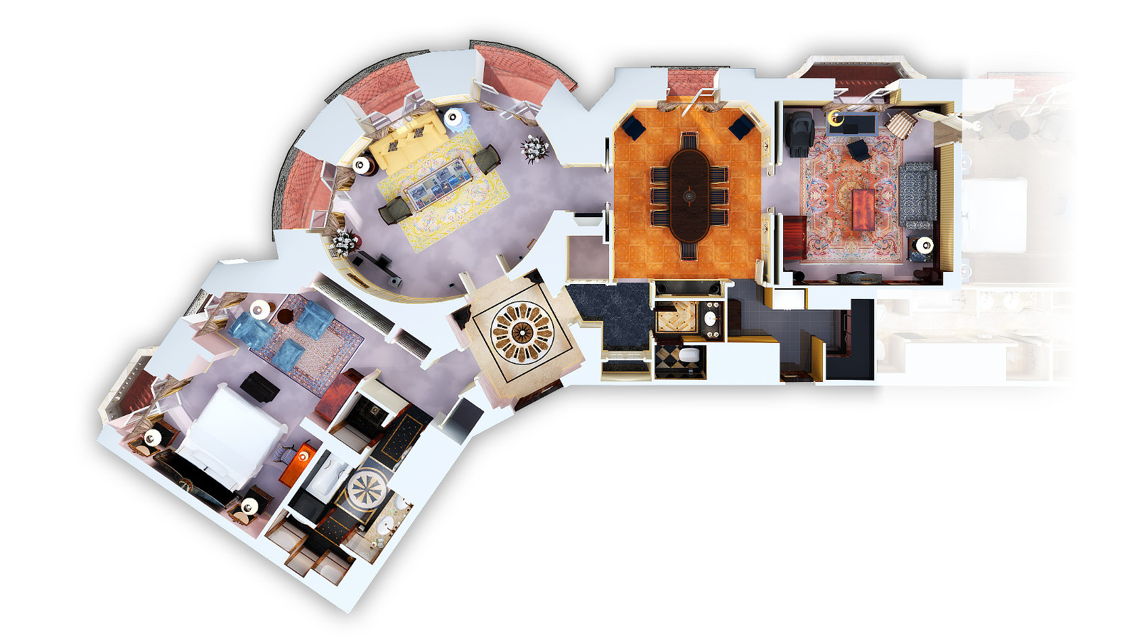 THE ROYAL SUITE 3D FLOOR PLAN (CONNECTING ROOM AVAILABLE)