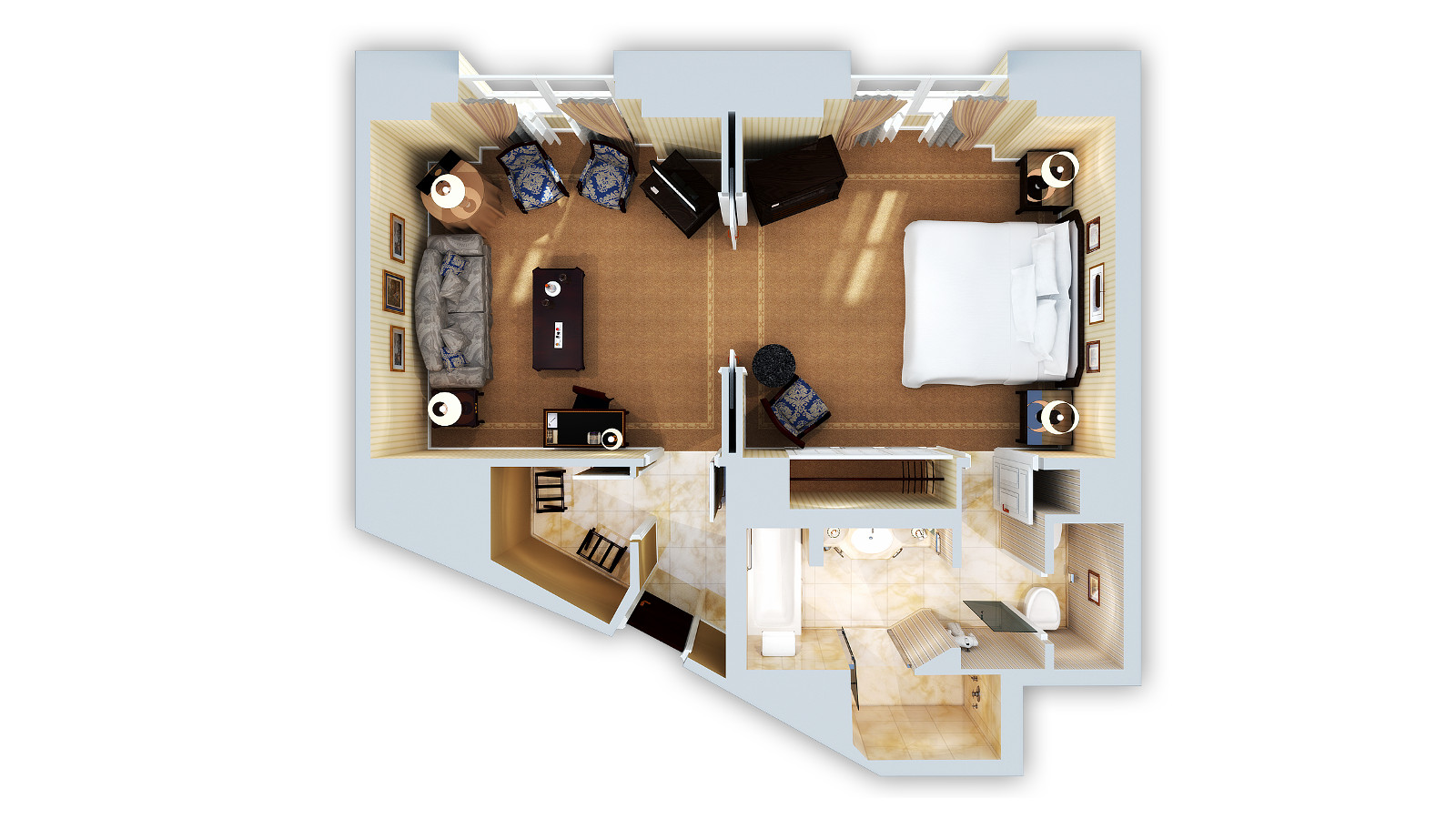 JUNIOR SUITE 3D FLOOR PLAN